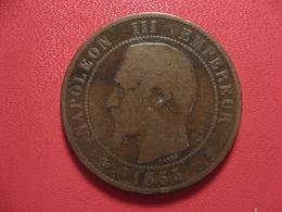 10 Centimes Napoléon III 1855 BB Strasbourg Ancre 4241 - France