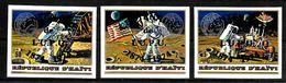 HAITI   N° 729/31 * *  NON DENTELE   SURCHARGE UPU  Espace Apollo XVII Poste - Space