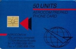 AEROCOM : 039.01 50 Units Blue  MIR (1) MINT - Russie