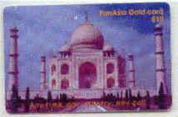 HKRM : P031 $10 PAN ASIA GOLD : INDIA Taj Mahal USED - Hong Kong