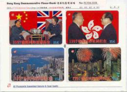HKMAGNETIC : M01A $25x4 97 H.K. Return To China , Deng, Thatcher, Fi USED - Hong Kong