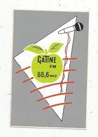 Autocollant , Radio & Télévision, GATINE FM , Radio 88.6 MHZ ,10 X 6.5 - Autocollants