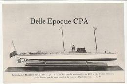 BATEAU / Musée De La Marine - #2139 - QUAND-MÊME - Yacht Automobile Du Duc Decazes / 1905 ++++ G. B. ++++ Maquette - Bateaux