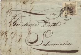 1850- Lettera Da BRESCIA   Con N°7 -  30 Centes Per Salemarazzino - Lombardo-Veneto