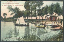 C.V En Couleur Du Lac OVERMEIRE Uytbergen-Berlaer-Donck L'embarcadère Et Le Chalet Gaulois, Affr; N°53 - 1c. Gris Obl. S - Berlare