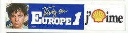 Autocollant , Radio & Télévision, Vivez En  EUROPE 1 , J'aime SHELL , JACKY - Autocollants