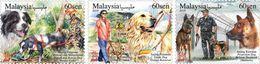 Malaysia 2018-1 Working Dogs MNH Fauna Rescue Disabled Blind Railway Zodiac Dog - Malaysia (1964-...)