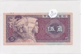 Billets -B3020- Chine -5 Wu Jiao 1980 (type, Nature, Valeur, état... Voir  Double Scan) - China