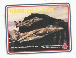 Autocollant , AVIATION & ESPACE , MCDONNEL DOUGLAS , HARRIER II PLUS , British Aerospace Military Aircraft - Autocollants