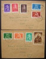 Belgique, 1946 Lot De Deux Jolies Lettres De Rochefort Pour Douai (France) - 1935-1949 Petit Sceau De L'Etat