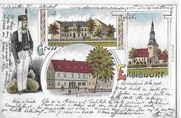 ALLEMAGNE    GRUSS AUS ERBISDORF   4 VUES COULEURS Petite Coupure Bas Centre - Germania