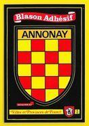 ANNONAY Rare Blason Adhésif (Kroma N°254) Ardèche (07) - Annonay
