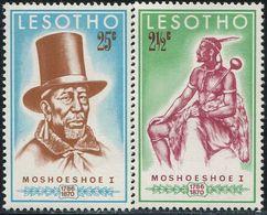 BN1678 Lesotho 1970 Celebrity 2V MNH - Lesotho (1966-...)