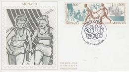 Enveloppe  FDC  1er  Jour   MONACO    Jeux  Olympiques   BARCELONE   1992 - Verano 1992: Barcelona