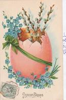 Paques : Gaufrée :  ( éclosion De Fleurs ) - Pâques