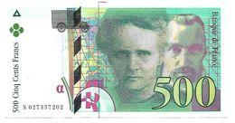 France - 500 Francs Pierre Et Marie Curie 1994  N° N 027357202 Très Beau Billet - 1992-2000 Ultima Gama