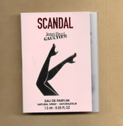 Echantillon Sample Perfume Card SCANDAL * EDP 1,5 Ml * JEAN PAUL GAULTIER (2 Photos) - Perfume Samples (testers)
