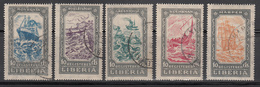 LIBERIA   SCOTT NO.  F30-34   USED    YEAR  1924 - Liberia