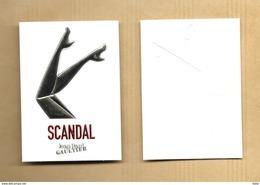 Carte Parfumée Perfume Card SCANDAL * JEAN PAUL GAULTIER JPG * R/V - Cartes Parfumées