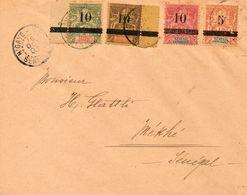 SUPERBE Lettre Avec Les N°26/29 Destination Locale - Sénégal (1887-1944)