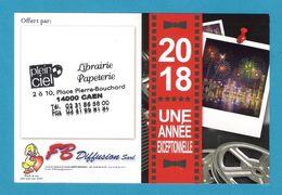 Petit Calendrier Publicitaire 2018.  FB Diffusion. - Calendars
