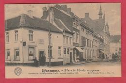 Waremme - Place De L'Ecole Moyenne ... Carrefour De L'Eglise Primaire ( Voir Verso ) - Borgworm