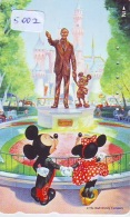 Télécarte Japon / 110-166449 - DISNEY - MICKEY MINNIE & Statue De WALT (5002) Japan Phonecard Telefonkarte * PLIER - Disney