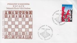 Enveloppe  FDC  1er  Jour   ANDORRE   ANDORRA    Les  Echecs    1996 - Echecs