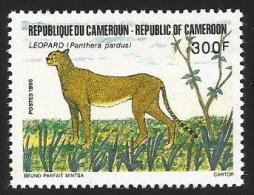 Cameroun Cameroon 1986 Leopard Cheetah Yv 798 Mi 1134 Mint Neuf - Kameroen (1960-...)