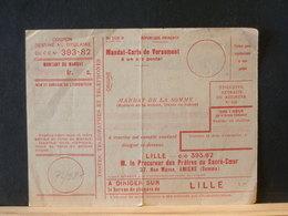 72/287   MANDAT-CARTE DE VERSEMENT  LILLE - Documents Of Postal Services