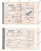 BIGLIETTI ALITALIA DEL 1965 VENEZIA ROMA E VICEVERSA - - Europe