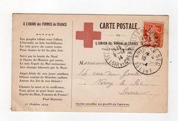 A L'union Des Femmes De France , Croix Rouge , Texte Paul Besnard - War 1914-18
