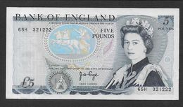 GRANDE BRETAGNE - Billet De 5 Livres - 1952-… : Elizabeth II