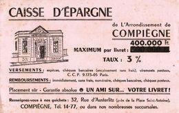 BUVARD  CAISSE D'EPARGNE COMPIEGNE - Bank & Insurance