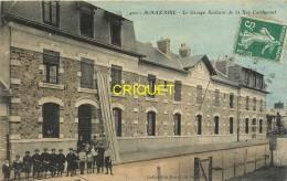 44 St Nazaire, Le Groupe Scolaire De La Rue Cardurant, Carte Colorisée Pas Courante Affranchie 1908 - Saint Nazaire
