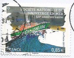 2017 - Société Nationale De Sauvetage En Mer - Y&T N° 5151 - Oblitéré Cachet Rond - Frankreich