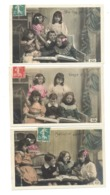 FANTAISIE - Lot De 3 CP - Enfant, Fillette, Fille, Garçon, Amitié,... (f3) - Groepen Kinderen En Familie