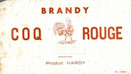 BUVARD BRANDY COQ ROUGE PRODUIT HARDY CACHET PHILIPPE BERNARD A LAON - Liquor & Beer