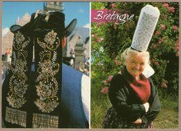 29 / Folklore Bigouden - Chapeau Breton Avec Broderies Et Coiffe Bigoudène - France