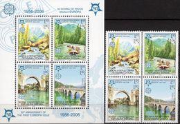 CEPT Brücken 2005 Serbien-Bosna 339/2VB+Block 13 ** 20€ Park Rafting Mostar Ms Bloc Bridge Bf Sheet 50Jahre EUROPA - Stamps