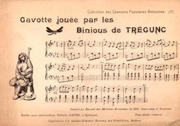 CHANSONS POPULAIRES BRETONNES - GAVOTTE JOUÉE PAR LES BINIOUS DE TREGUNC - RECUEIL MELODIE BRETONNE - Musik Und Musikanten