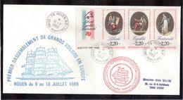 ENpl - VOILES DE LA LIBERTE - ROUEN - Voilier DRUZHBA - 14 JUILLET 1989 - - Marcophilie (Lettres)