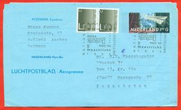 Netherlands 1995. Aerogramma Passed The Mail. Par Avion. - Periodo 1980 - ... (Beatrix)