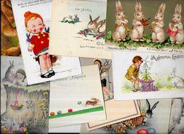 Lot 1112 De 10 CPA Lapin Bunny Rabbit Dont Gaufrées Illustrateurs Déstockage Pour Revendeurs Ou Collectionneurs - Ansichtskarten