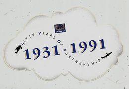 Autocollant , AVIATION & ESPACE , DOWTY , Sixty Years Of Partnership ,1931-1991 - Autocollants