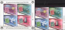 Topic EUROPA 1956-2006 Montenegro 108/1VB+Block Bl.2A 48€ Hoja M/s Blocs History S/s Sheets Bf Stamps On Stamp CEPT - Stamps
