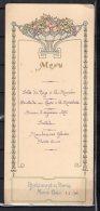 Monté Carlo - Restaurant De Paris -  Lot De 6 Menus De Janvier A Mars 1908 - Menükarten