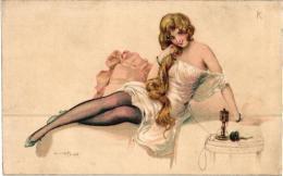 PAR A.PENOT LE CABINET DE TOILETTE ,ET LE TELEPHONE REF 54913 - Illustrators & Photographers