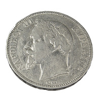 5 Francs - Napoléon III - France - 1868 BB - Strasbourg  -  Tête Laurée  - Argent - TB+ - - J. 5 Franchi