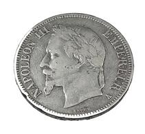5 Francs - Napoléon III - France - 1868 A - Paris  -  Tête Laurée  - Argent - TB+ - - J. 5 Franchi